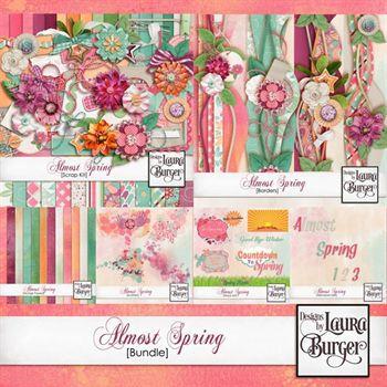 Almost Spring Bundle Digital Art - Digital Scrapbooking Kits