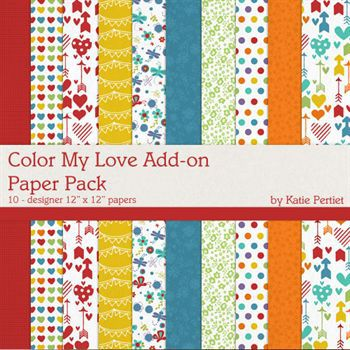 Color My Love Add-on Paper Pack