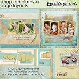 12 X 12 Scrap Templates 44 - Page Layouts