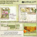 12 X 12 Scrap Templates 45 - Page Layouts