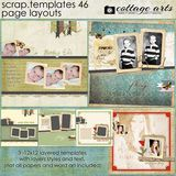12 X 12 Scrap Templates 46 - Page Layouts