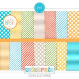 Color Blast 1 - Celebrate Dots And Stripes