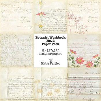 Botanist Workbook Paper Pack No. 02 Digital Art - Digital Scrapbooking Kits