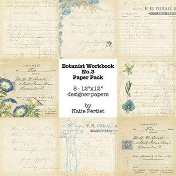 Botanist Workbook Paper Pack No. 03 Digital Art - Digital Scrapbooking Kits