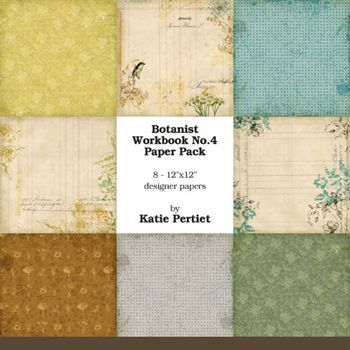 Botanist Workbook Paper Pack No. 04 Digital Art - Digital Scrapbooking Kits