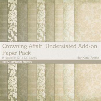 Crowning Affair Understated Add-on Paper Pack Digital Art - Digital Scrapbooking Kits