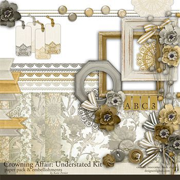 Crowning Affair Understated Kit Digital Art - Digital Scrapbooking Kits