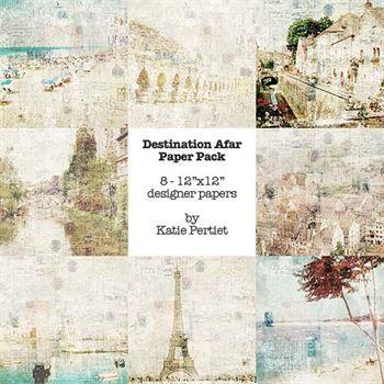 Destination Afar Paper Pack Digital Art - Digital Scrapbooking Kits