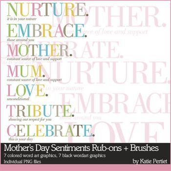 Mothers Day Sentiments No. 01 Digital Art - Digital Scrapbooking Kits