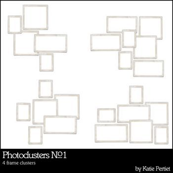 Photo Clusters No. 01 Digital Art - Digital Scrapbooking Kits