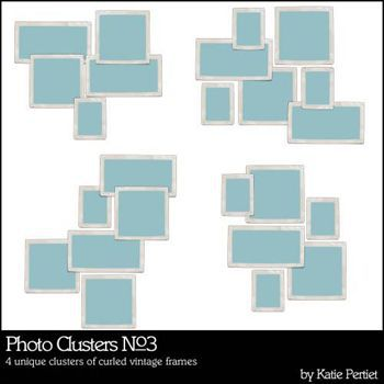 Photo Clusters No. 03 Digital Art - Digital Scrapbooking Kits