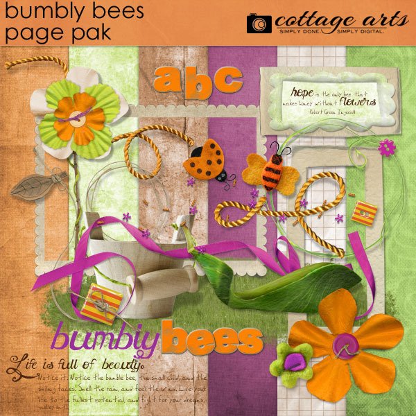 Bumbly Bees Page Pak W Alpha