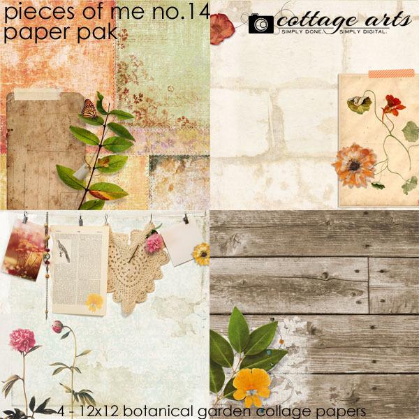 Pieces Of Me 14 Paper Pak Digital Art - Digital Scrapbooking Kits