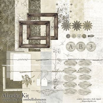 Alandia Kit Digital Art - Digital Scrapbooking Kits