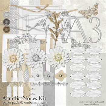 Alandia Noces Kit Digital Art - Digital Scrapbooking Kits