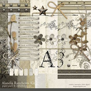 Alandia Rancheros Kit Digital Art - Digital Scrapbooking Kits