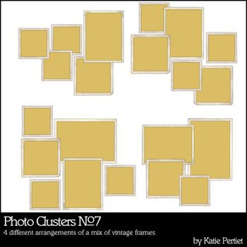 Photo Clusters No. 07 Digital Art - Digital Scrapbooking Kits