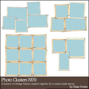 Photo Clusters No. 09 Digital Art - Digital Scrapbooking Kits