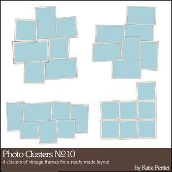 Photo Clusters No. 10 Digital Art - Digital Scrapbooking Kits