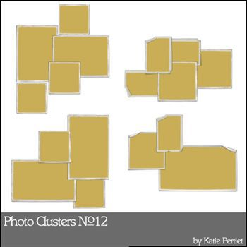 Photo Clusters No. 12 Digital Art - Digital Scrapbooking Kits