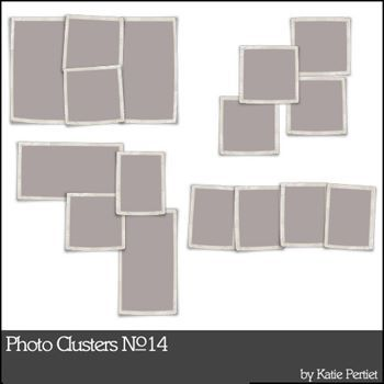 Photo Clusters No. 14 Digital Art - Digital Scrapbooking Kits