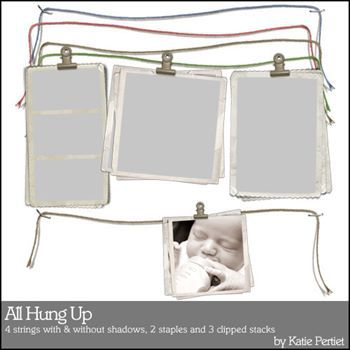 All Hung Up Digital Art - Digital Scrapbooking Kits