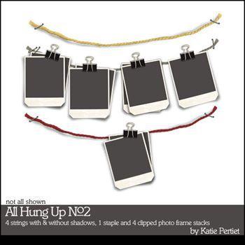 All Hung Up No. 02 Digital Art - Digital Scrapbooking Kits