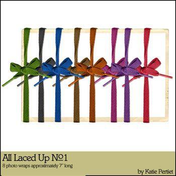 All Laced Up No. 01 Digital Art - Digital Scrapbooking Kits