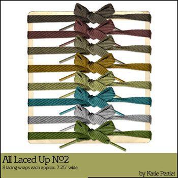 All Laced Up No. 02 Digital Art - Digital Scrapbooking Kits
