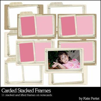 Carded Stacked Frames Digital Art - Digital Scrapbooking Kits