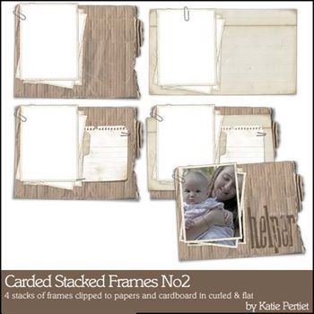 Carded Stacked Frames No. 02 Digital Art - Digital Scrapbooking Kits