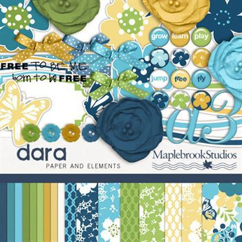 Dara Kit Digital Art - Digital Scrapbooking Kits