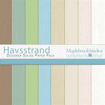 Havsstrand Solids Paper Pack Digital Art - Digital Scrapbooking Kits