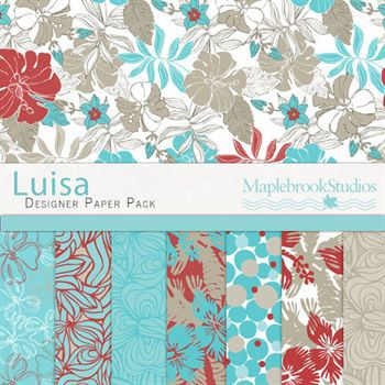 Luisa Paper Pack Digital Art - Digital Scrapbooking Kits
