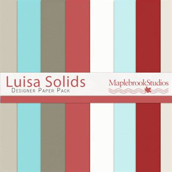 Luisa Solids Paper Pack Digital Art - Digital Scrapbooking Kits