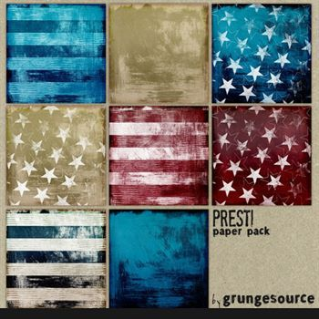 Presti Paper Pack Digital Art - Digital Scrapbooking Kits