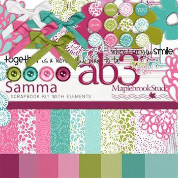 Samma Kit Digital Art - Digital Scrapbooking Kits