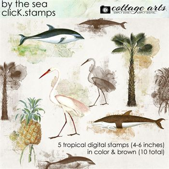 By The Sea Click.stamps Digital Art - Digital Scrapbooking Kits