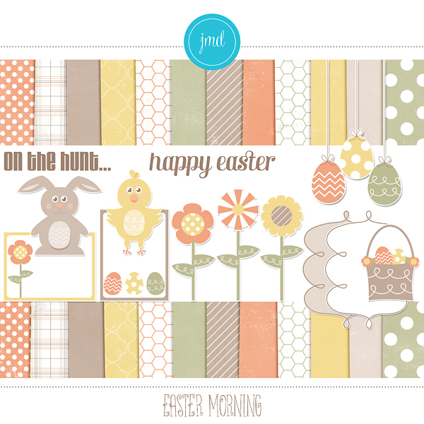 Easter Morning Digital Art - Digital Scrapbooking Kits