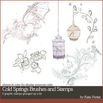 Cold Springs Stamps Digital Art - Digital Scrapbooking Kits