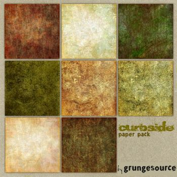 Curbside Paper Pack Digital Art - Digital Scrapbooking Kits