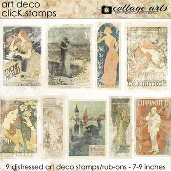 Art Deco Click.stamps Digital Art - Digital Scrapbooking Kits