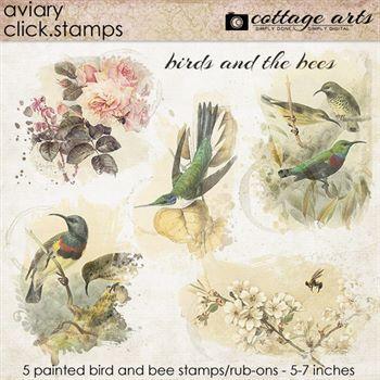 Aviary Click.stamps Digital Art - Digital Scrapbooking Kits