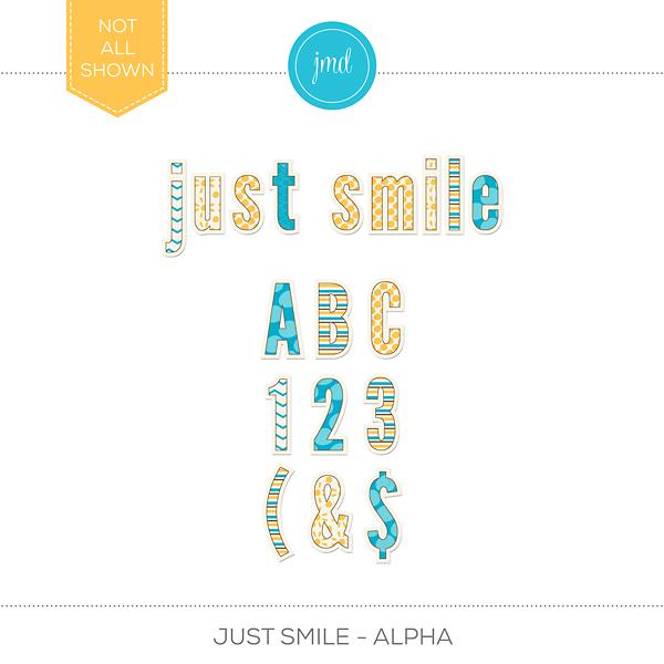 Just Smile - Alpha Digital Art - Digital Scrapbooking Kits