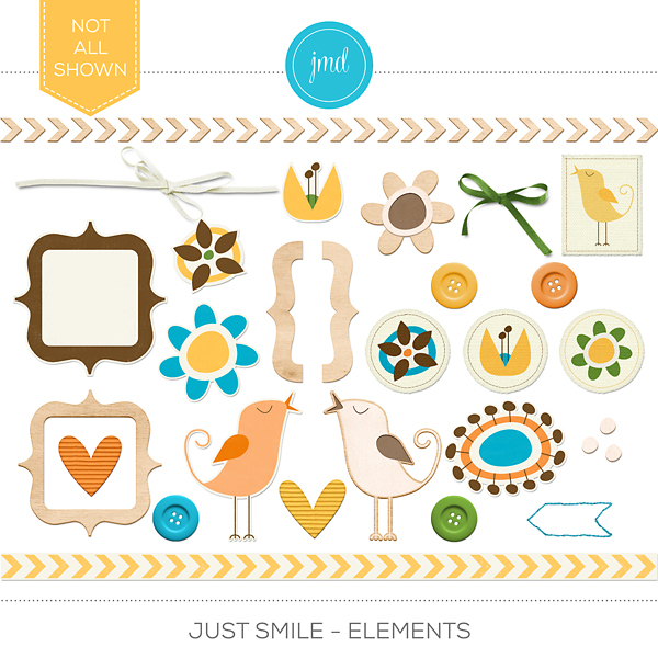 Just Smile - Elements Digital Art - Digital Scrapbooking Kits
