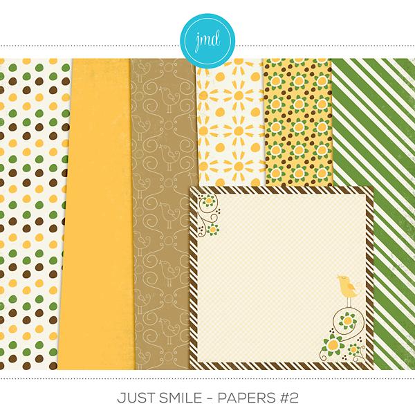 Just Smile - Papers #2 Digital Art - Digital Scrapbooking Kits