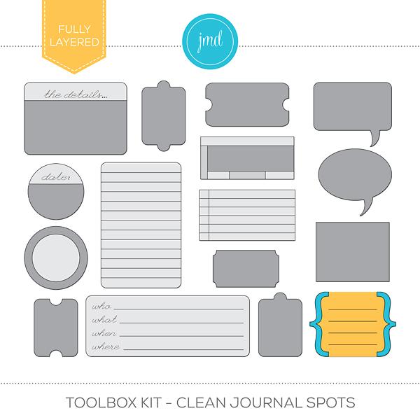 Toolbox Kit - Clean Journal Spots Digital Art - Digital Scrapbooking Kits
