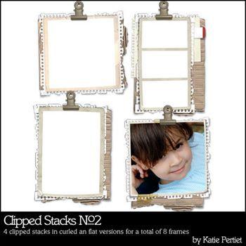 Clipped Stacks No. 02 Digital Art - Digital Scrapbooking Kits