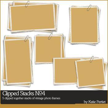 Clipped Stacks No. 04 Digital Art - Digital Scrapbooking Kits