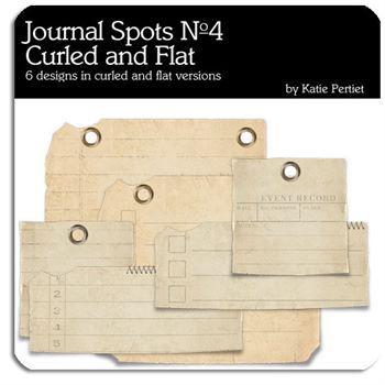 Curled Journal Spots No. 04 Digital Art - Digital Scrapbooking Kits